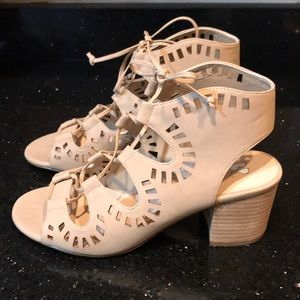 BP cream lace cut out heels BRAND NEW Size 8